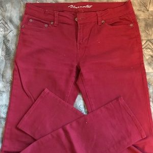 Red bluenotes skinny jeans